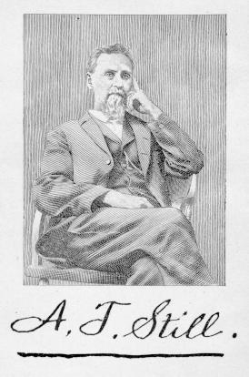 Andrew Taylor Still, MD, DO (August 6, 1828 – December 12, 1917) was the founder of osteopathy and osteopathic medicine. He was also a physician and surgeon, author, inventor and Kansas territorial and state legislator. He was one of the founders of Baker University, the oldest four-year college in the state of Kansas, and was the founder of the American School of Osteopathy (now A.T. Still University), the world's first osteopathic medical school, in Kirksville, Missouri.